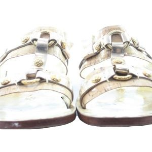 MICHAEL KORS GOLD LEATHER SANDALS SIZE 10